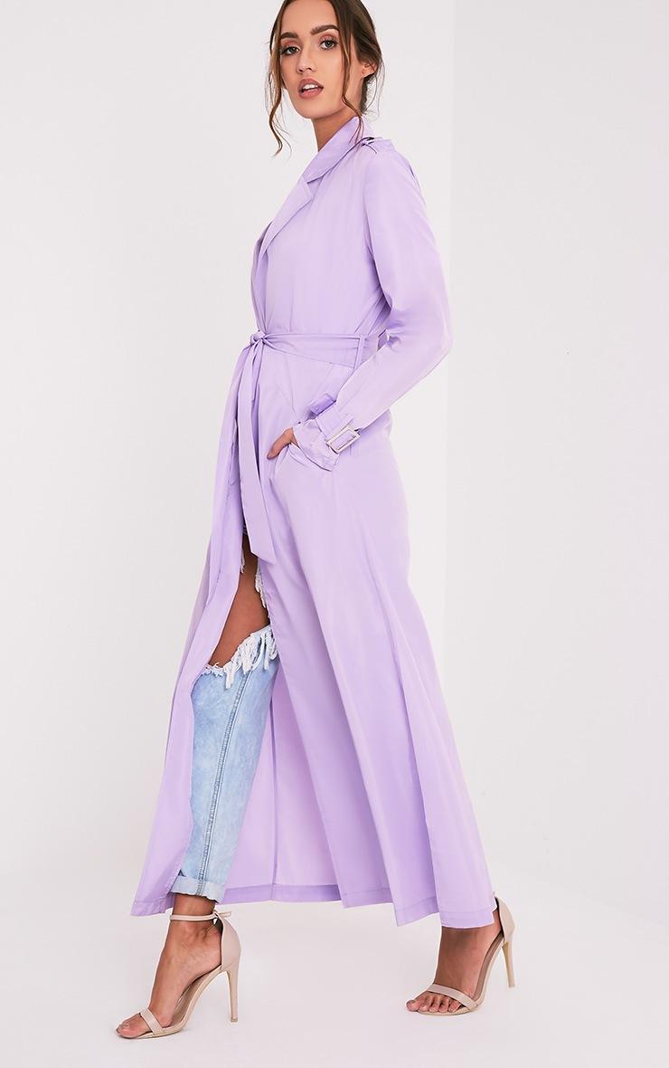 Hebe manteau ample imper léger lilas 4