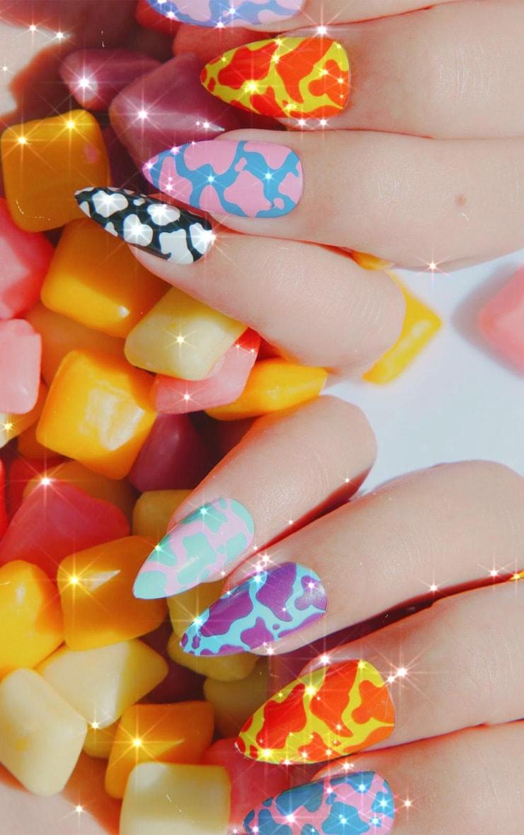 SHRINE X Alice Mc Cow Print Stick On Nails 1