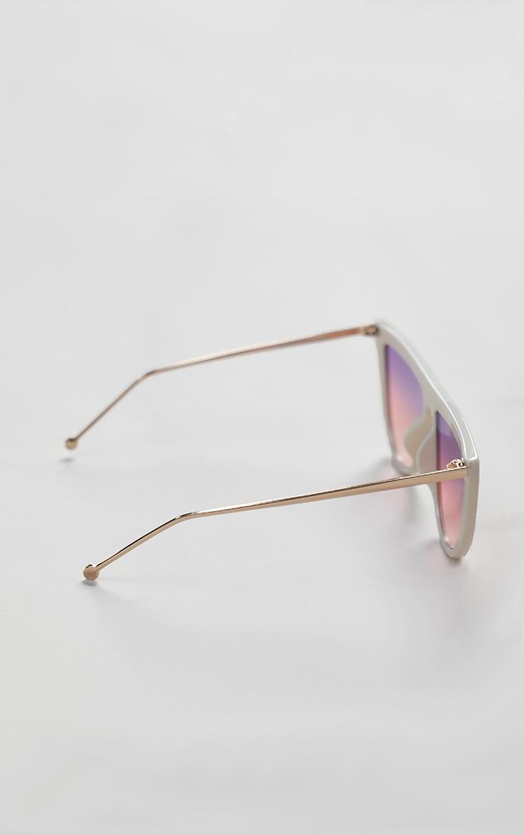 Pink Flat Bar Round Edge Sunglasses 5