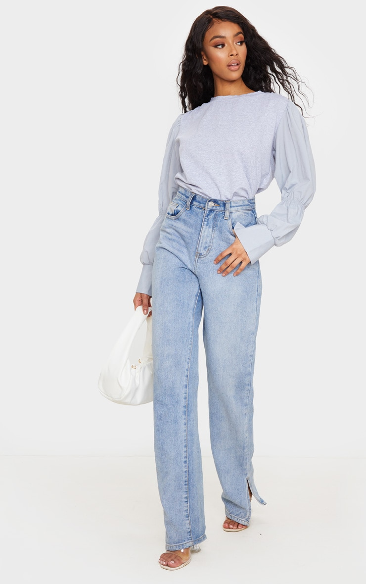 Grey Marl Ruched Longsleeve Top 3
