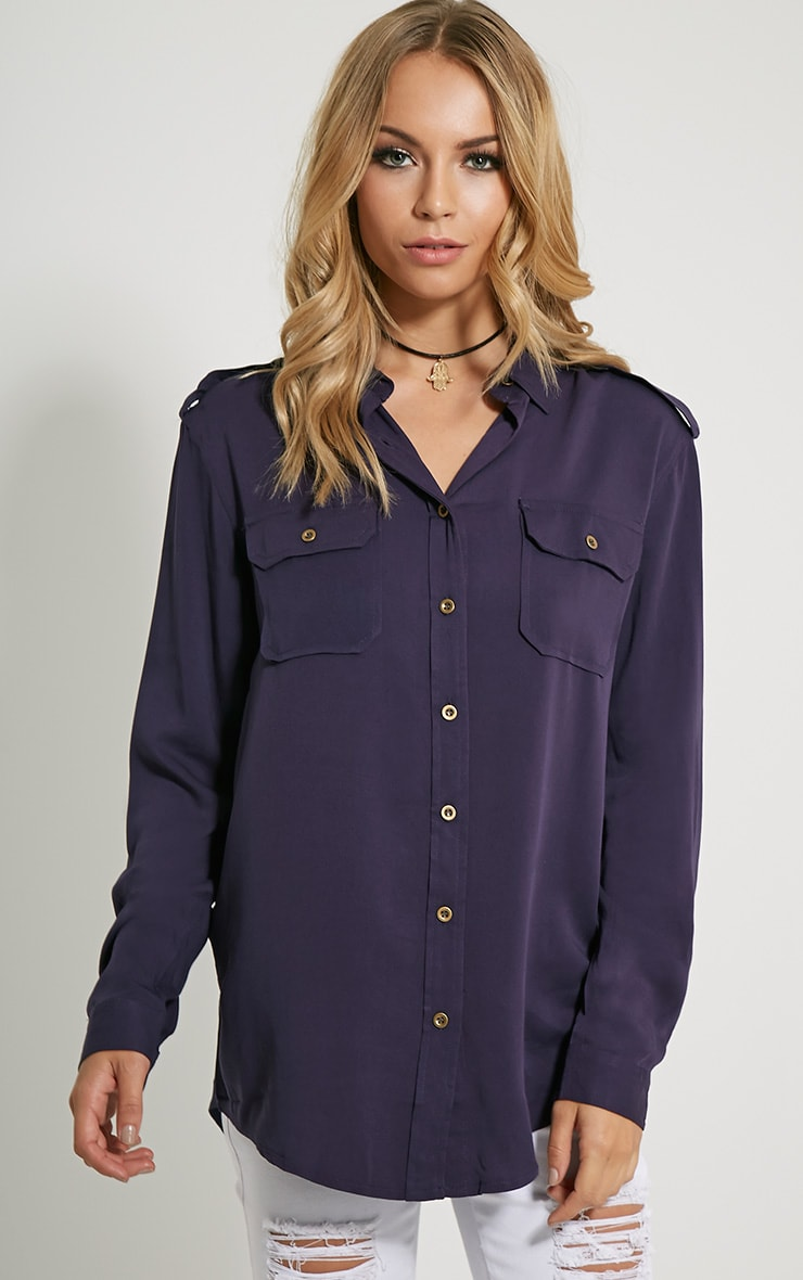 Marni Navy Military Shirt 1
