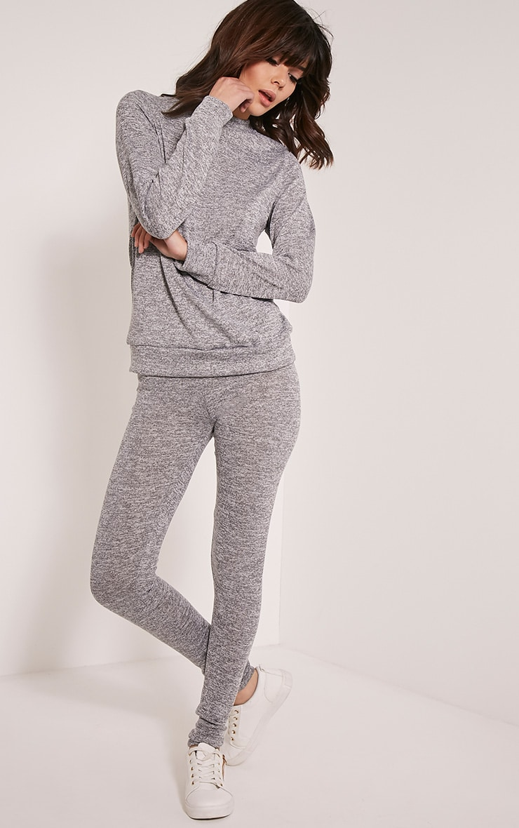 Dannie Grey Long Sleeve Tracksuit Sweatshirt 5