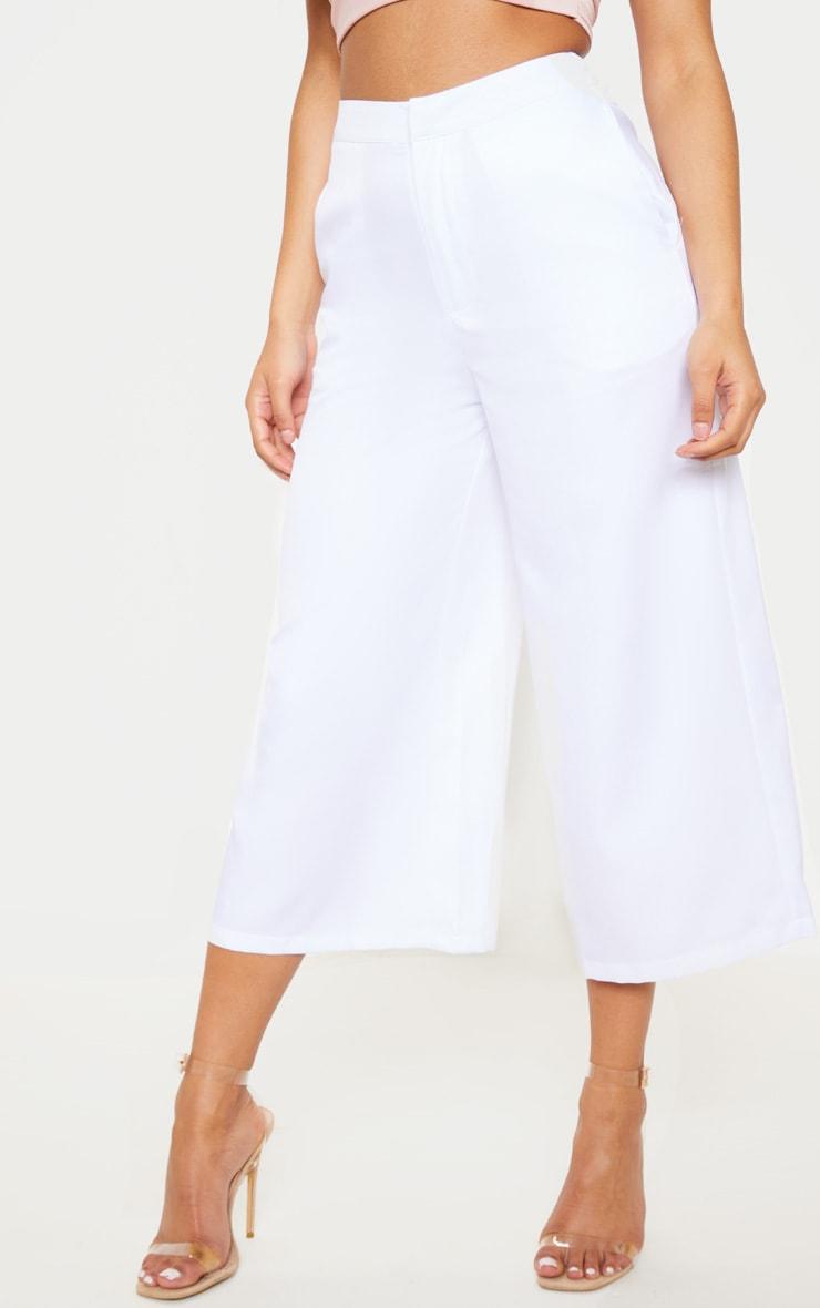 White Woven Formal Culotte 2