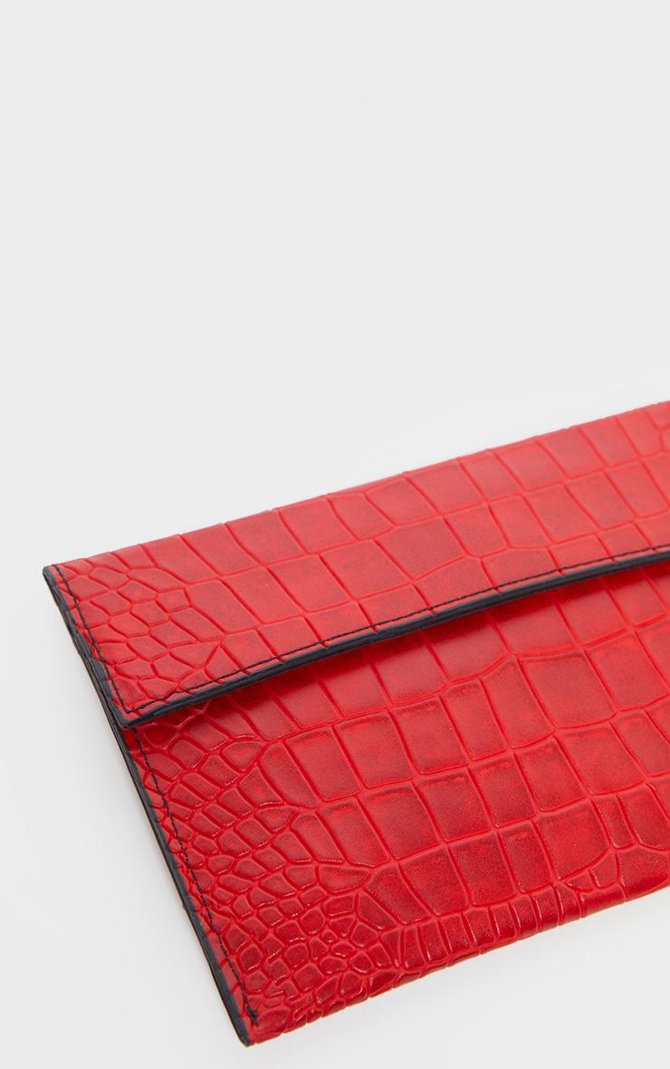 Red Croc Clutch Bag 4