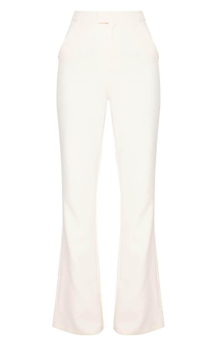 Cream Wide Leg Trousers 3