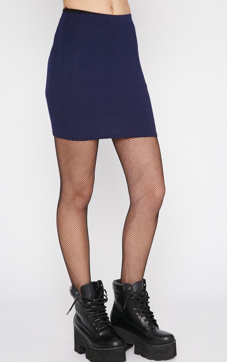 Margot Navy Jersey Mini Skirt 5