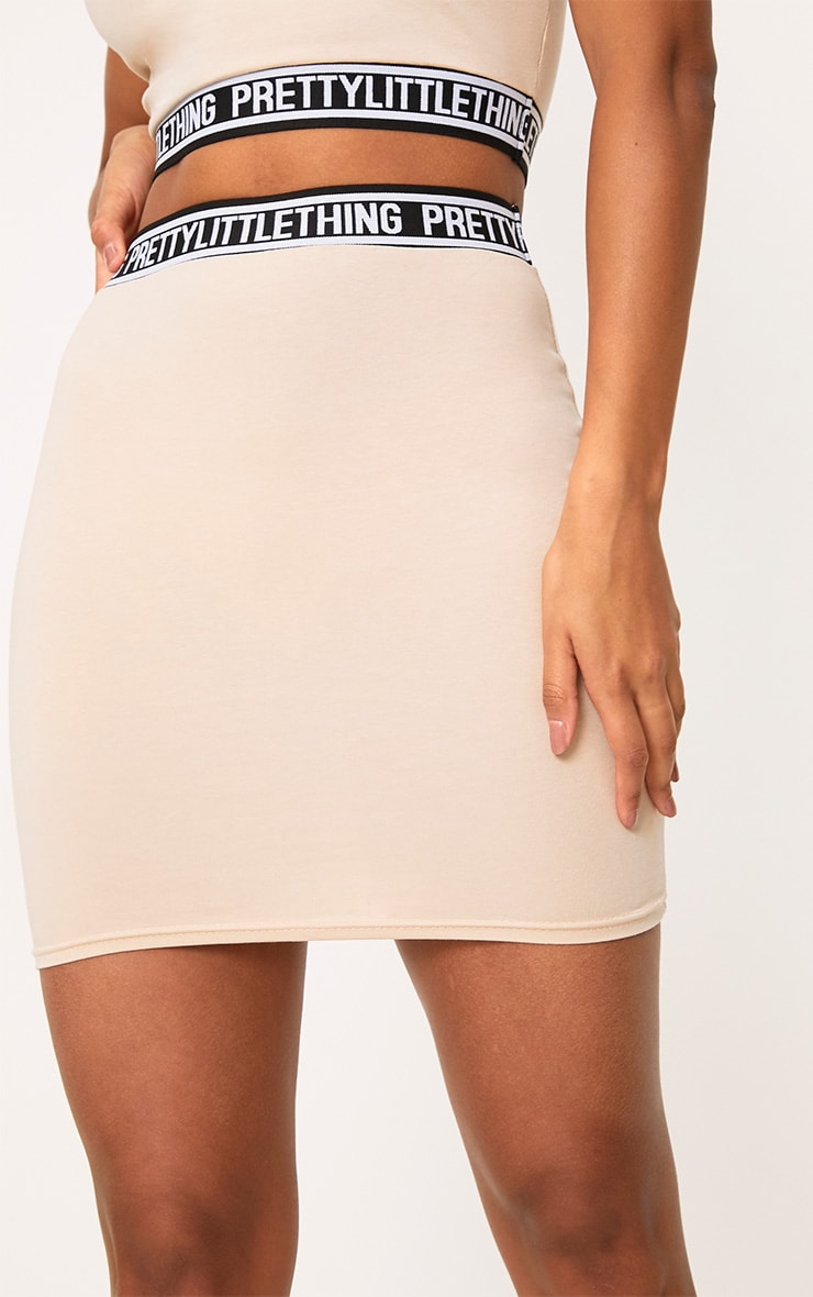 PRETTYLITTLETHING Nude Mini Skirt 6