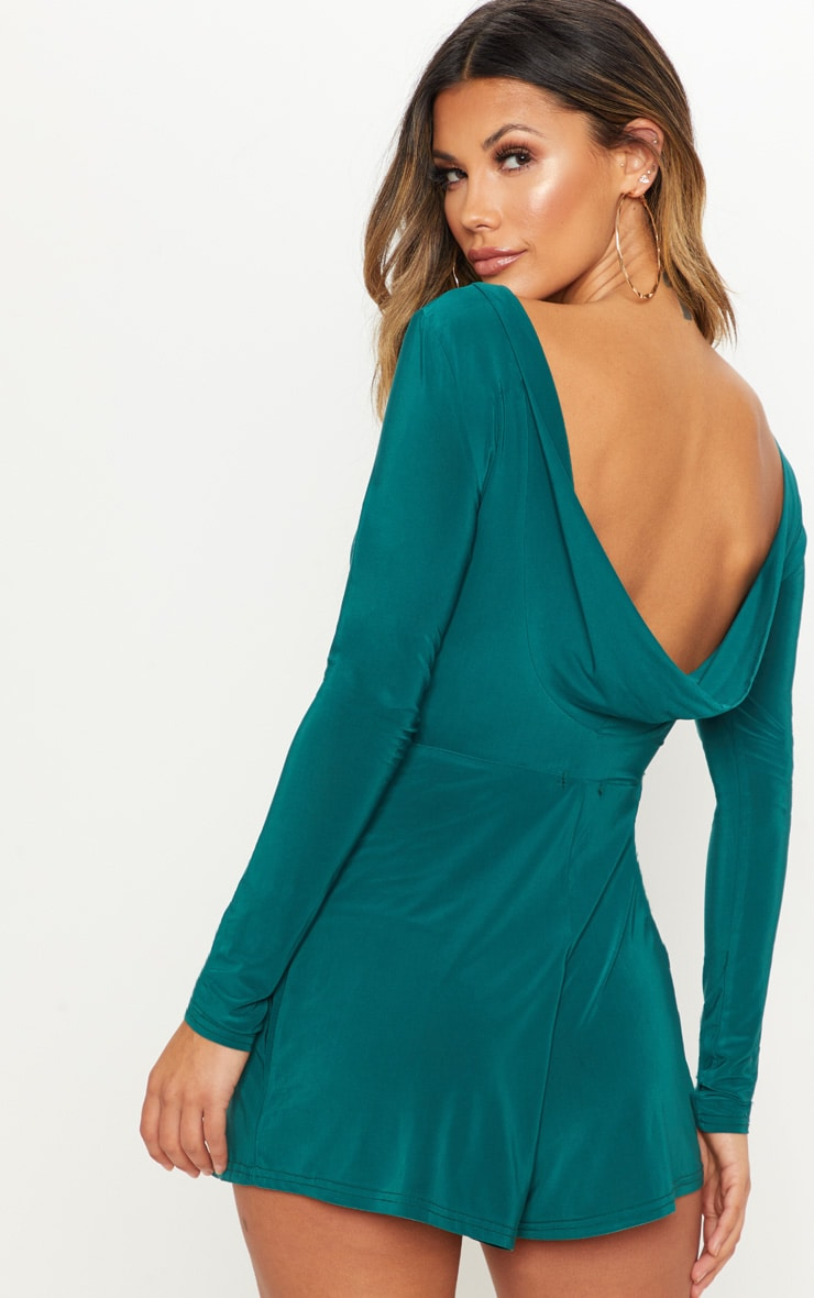 Emerald Green Cowl Back Playsuit