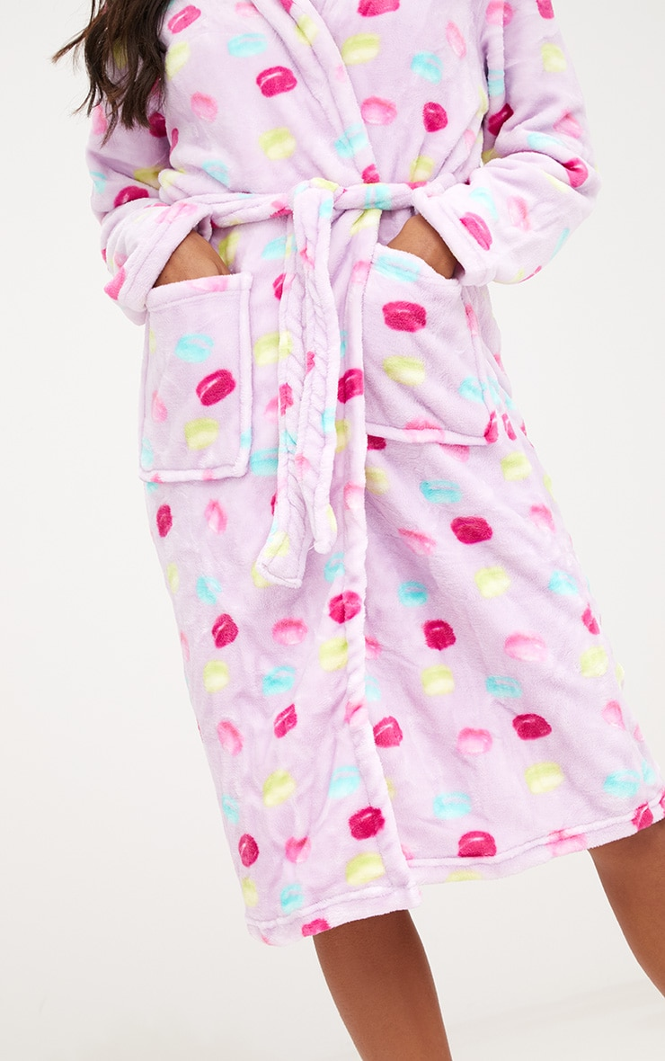 Lilac Macaroon Dressing Gown 4