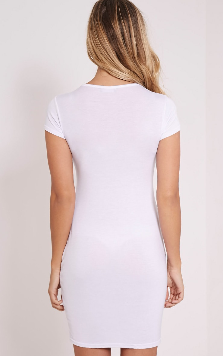 Basic White Jersey Dress 2