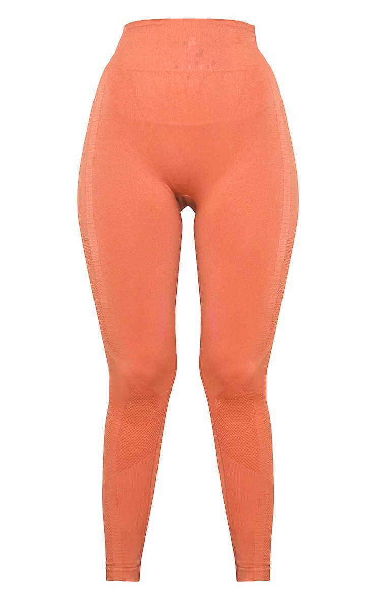 Orange Seamless Gym Leggings 5