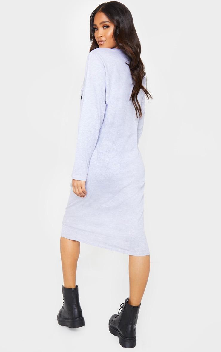 Grey California Scorpion Print Long Sleeve Midi Dress 2