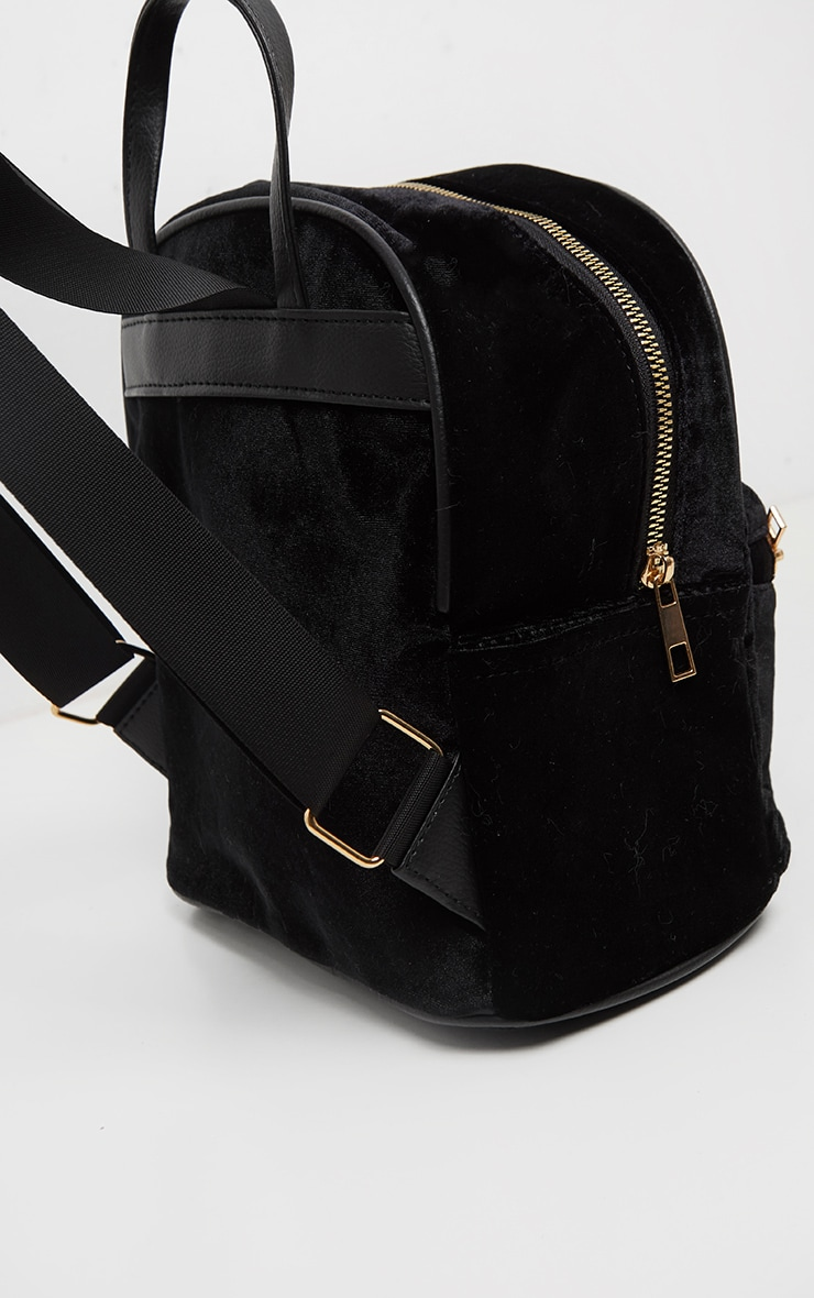 Black Velvet Mini Back Pack 3