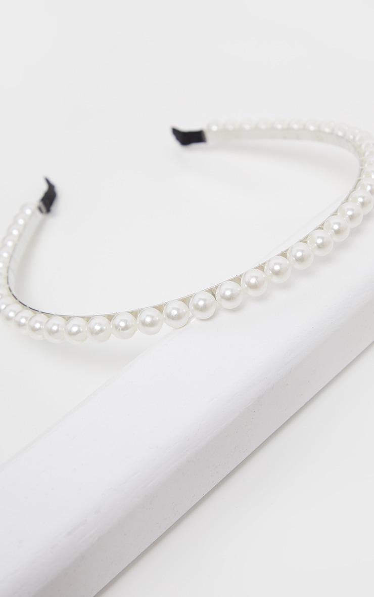 Serre-tête blanc à perles 2