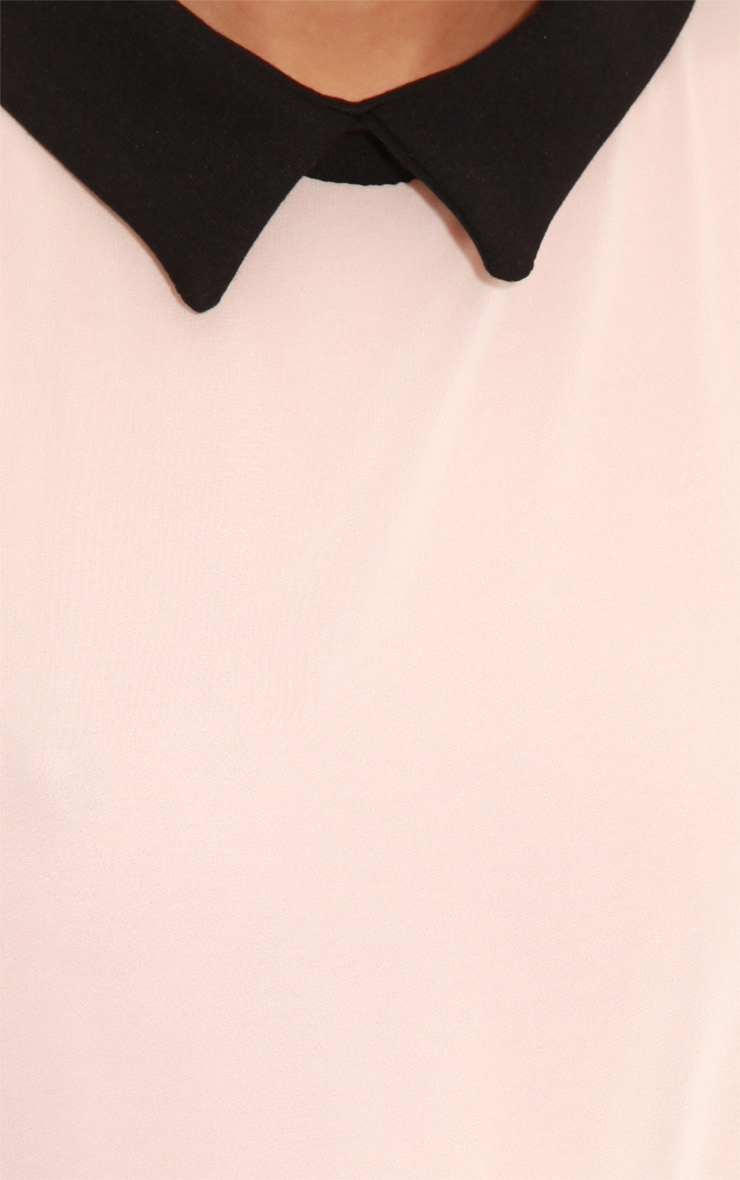 Xander Pink Chiffon Collar Playsuit 5