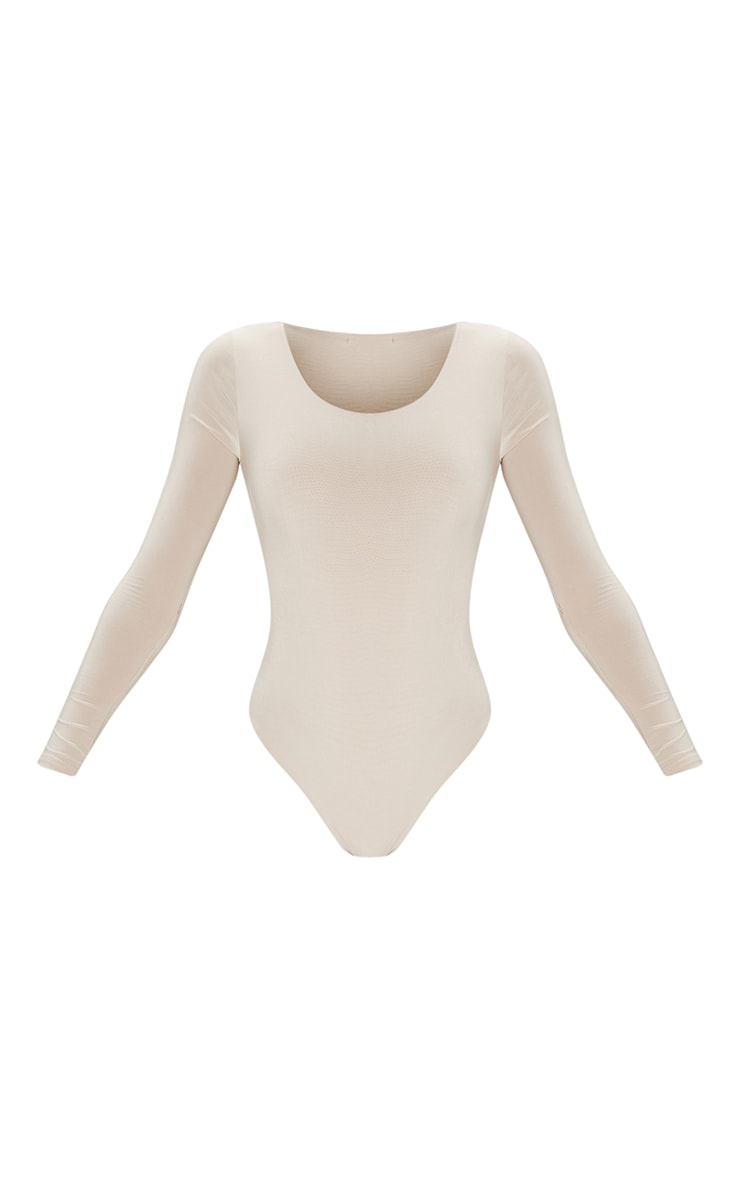 Stone Second Skin Long Sleeve Thong Bodysuit 5
