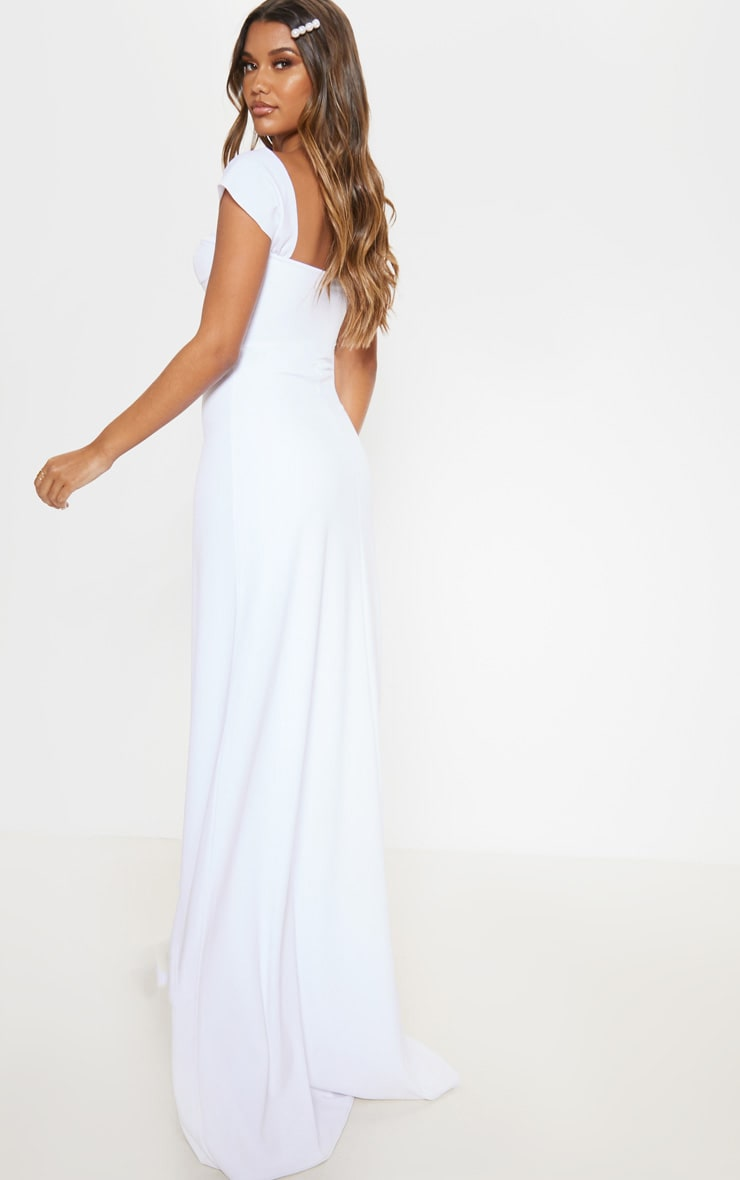White Cup Detail Maxi Dress 2