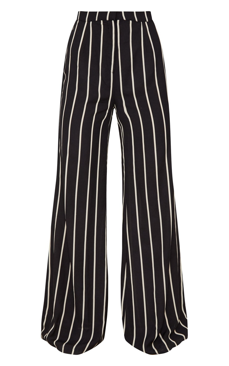 Black Striped Wide Leg Trousers 3