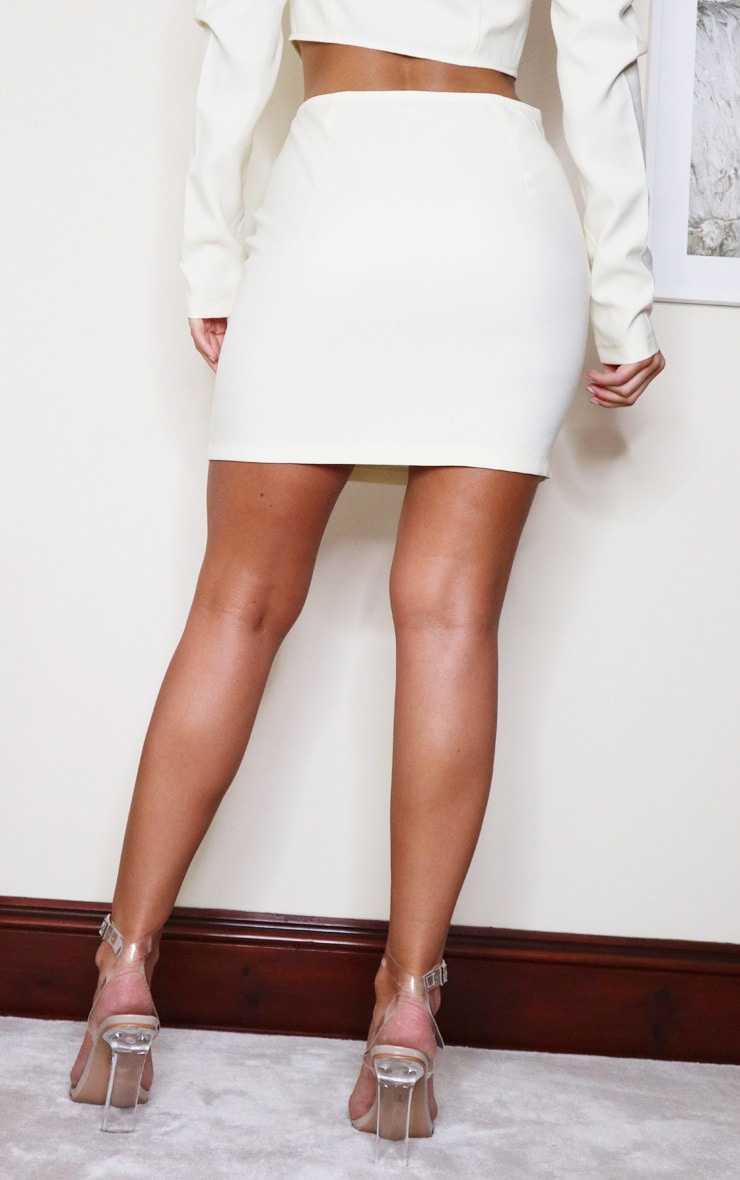 Cream Woven Mini Skirt 3