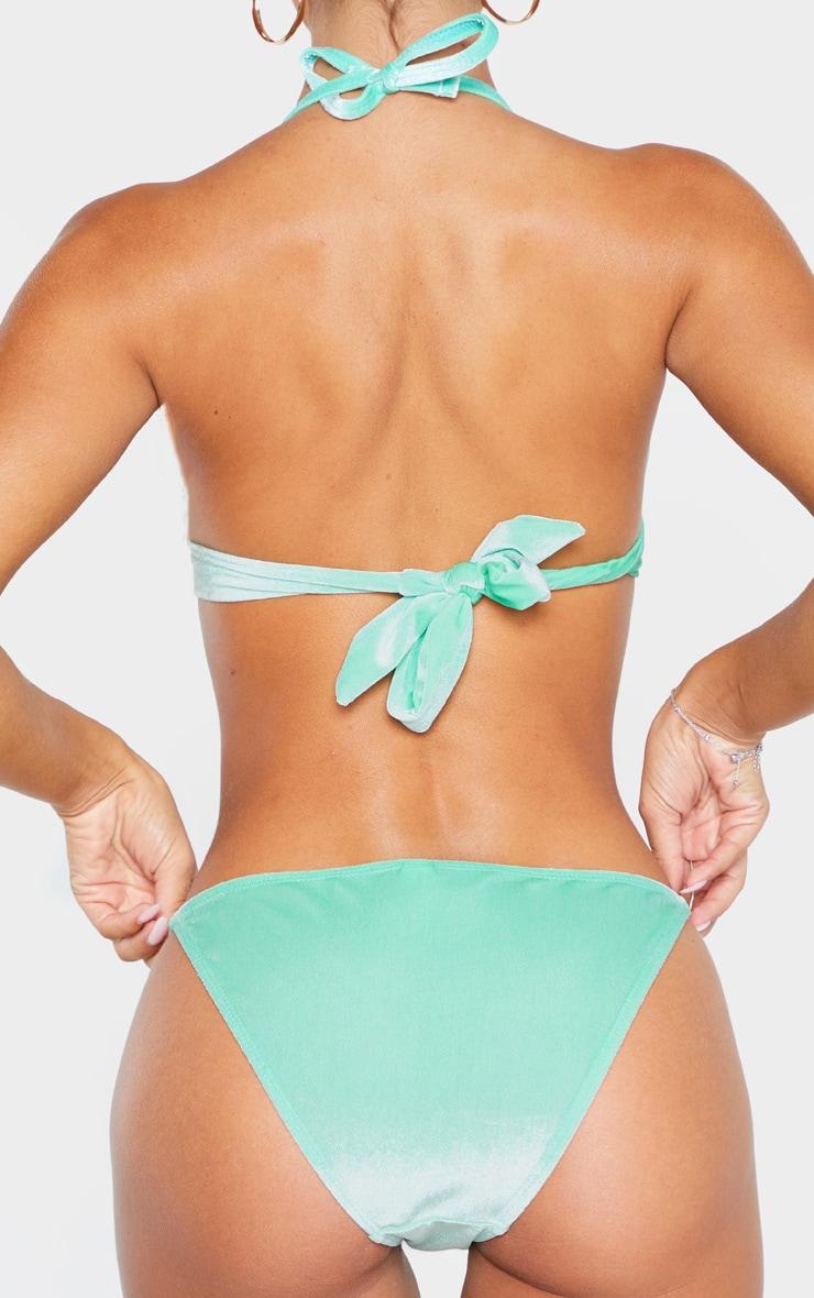 Green Velvet Tanga Bikini Bottom 3