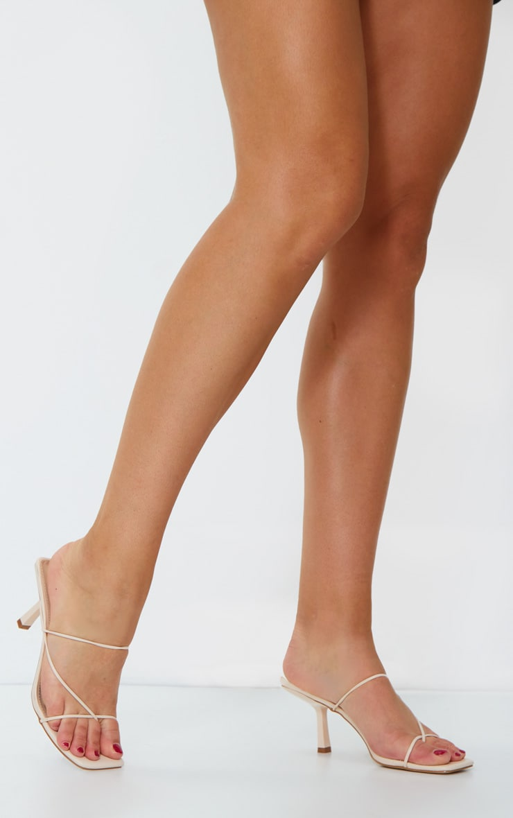 Nude Low Heel Barley There Strappy Mules 2