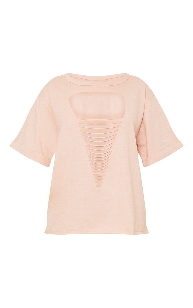 Theea Nude Extreme Choker Rip Jersey T Shirt 3