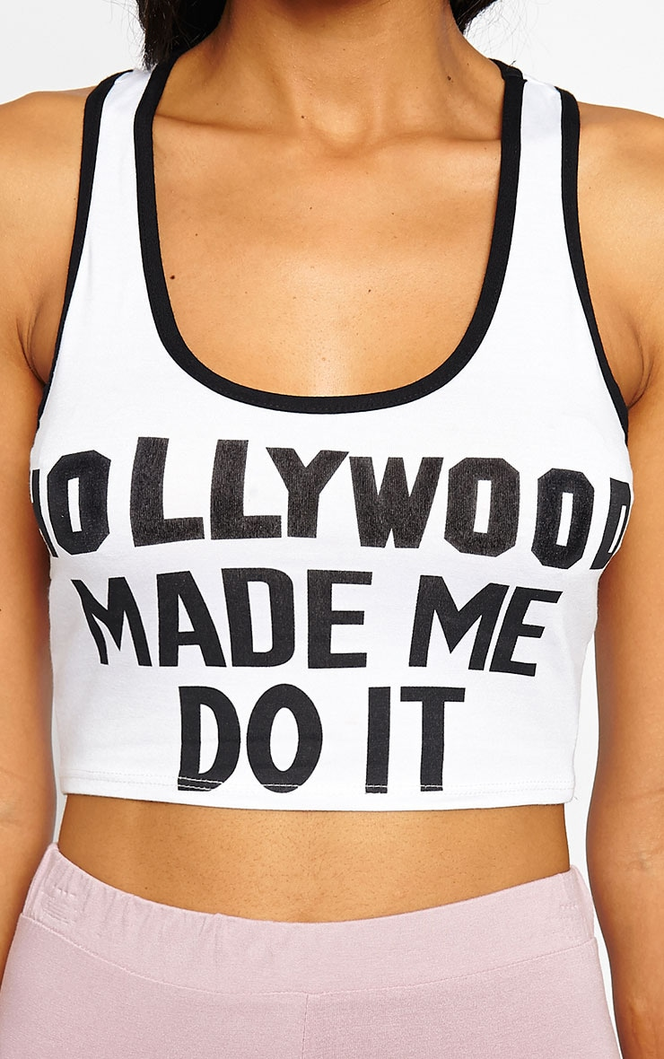 Aubree White Hollywood Crop Top 5