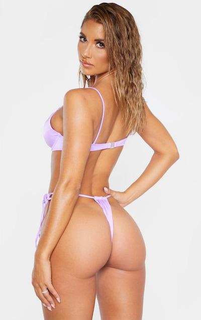 Lilac Tie Side High Front Bikini Bottom