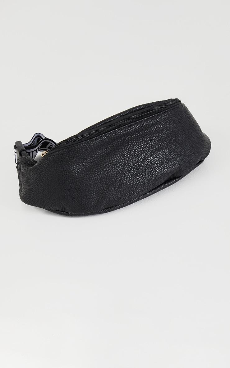 PRETTYLITTLETHING Black Elastic Bum Bag 2
