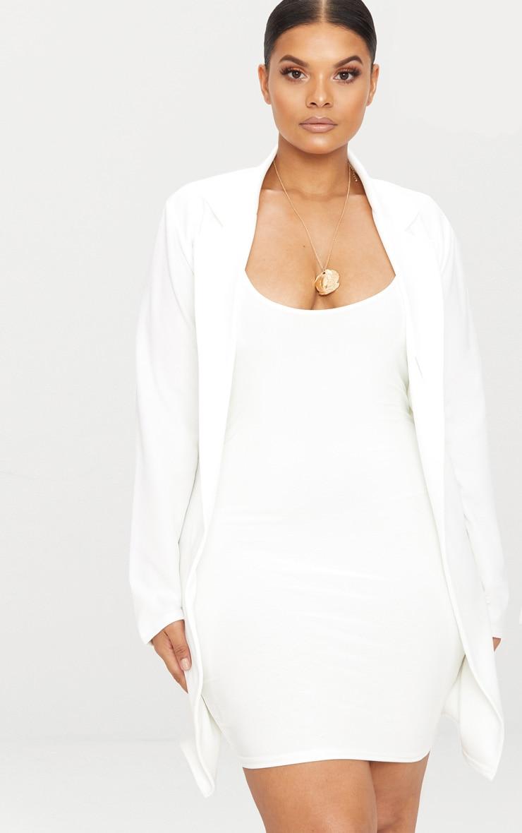 PLT Plus - Blazer long blanc 4