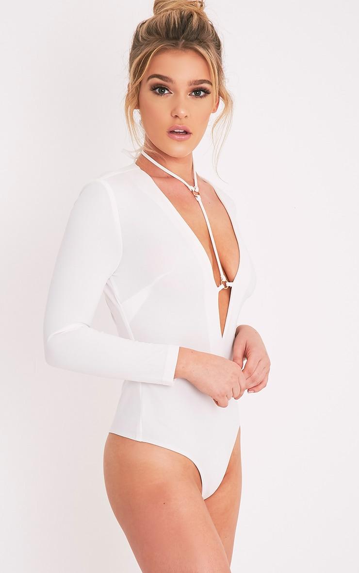 Livvie body-string harnais crème à manches longues 3