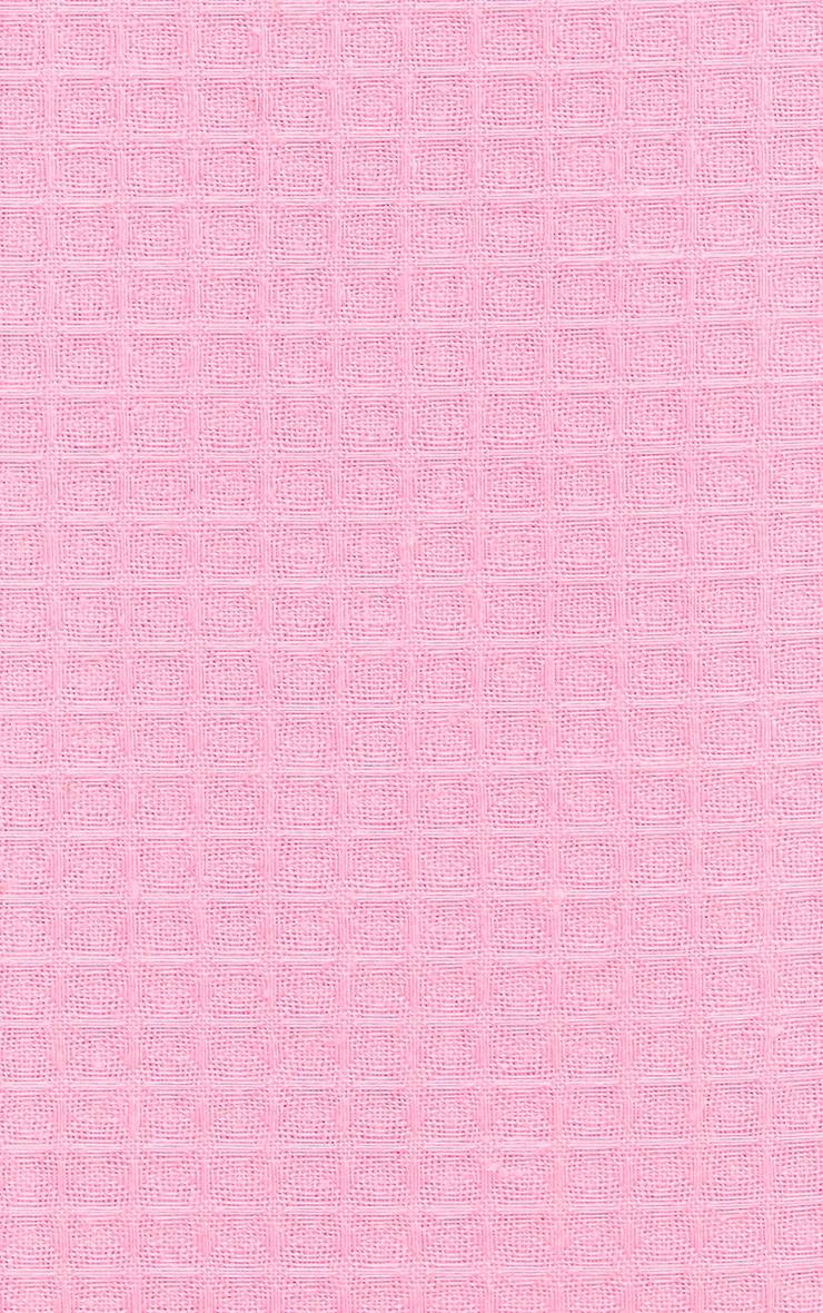 PRETTYLITTLETHING Pink Waffle King Duvet Set 4