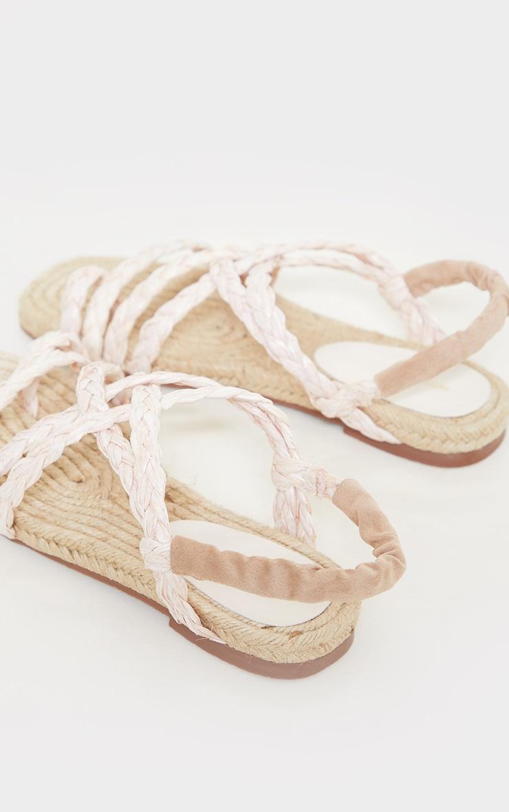 Natural Plaited Multi Strap Sandals 4