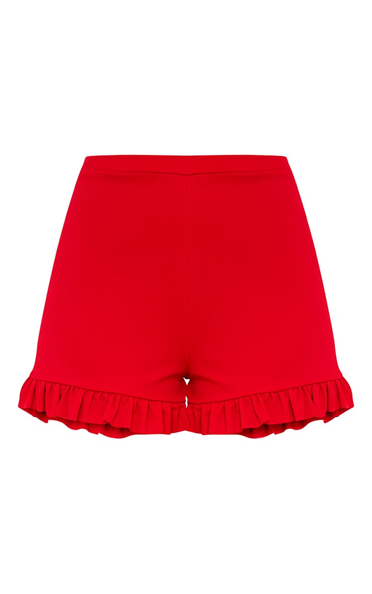 Red Frill Shorts  3