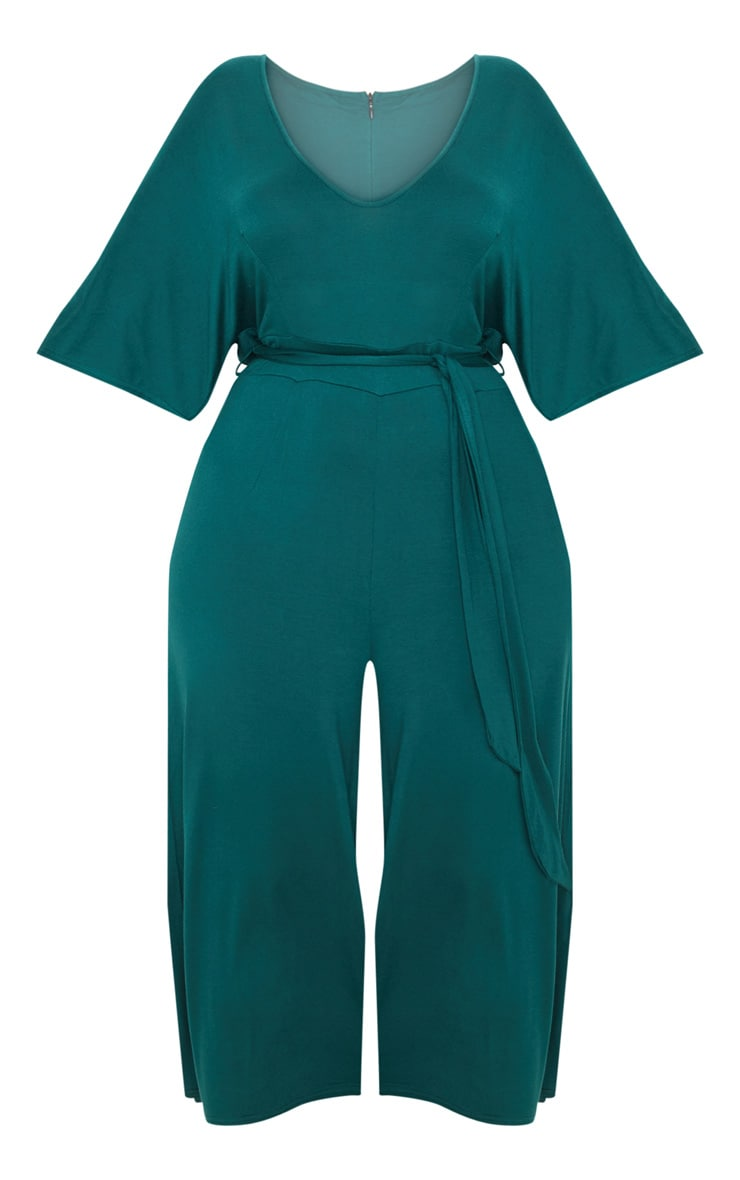 Plus Emerald Green Culotte Jumpsuit 3