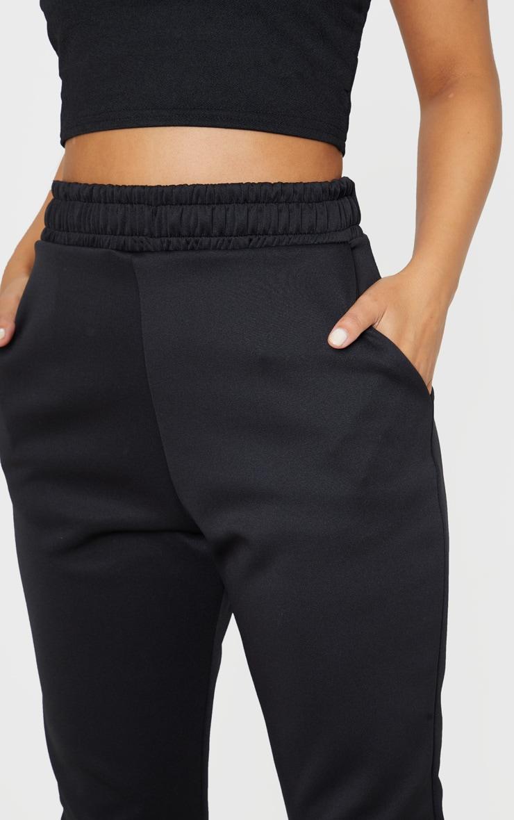 Petite Black Ruched Waist Pants  5