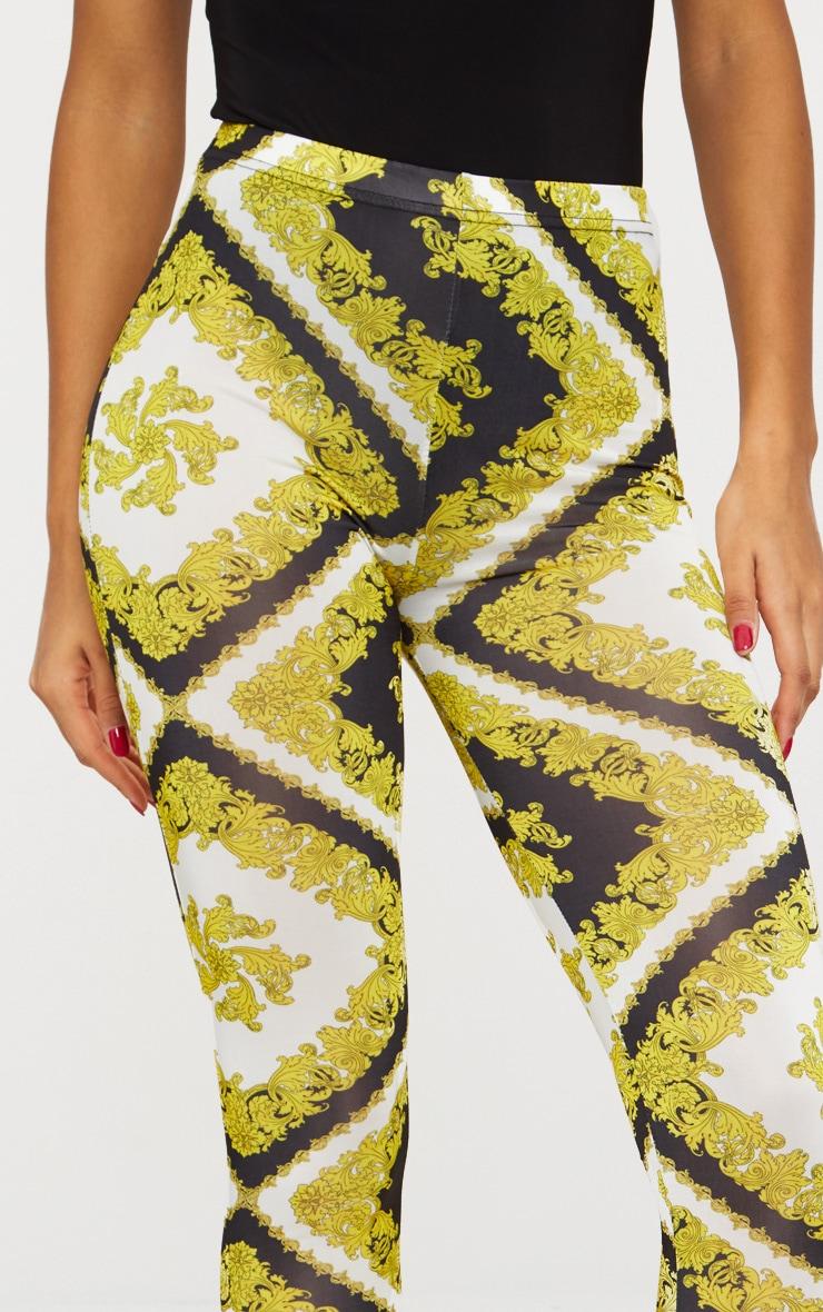 Gold Slinky Chain Print Legging 5