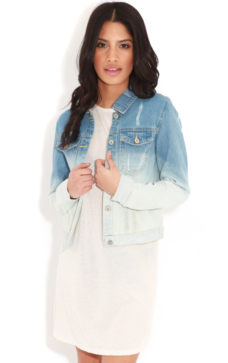Rebecca Faded Denim Jacket 1