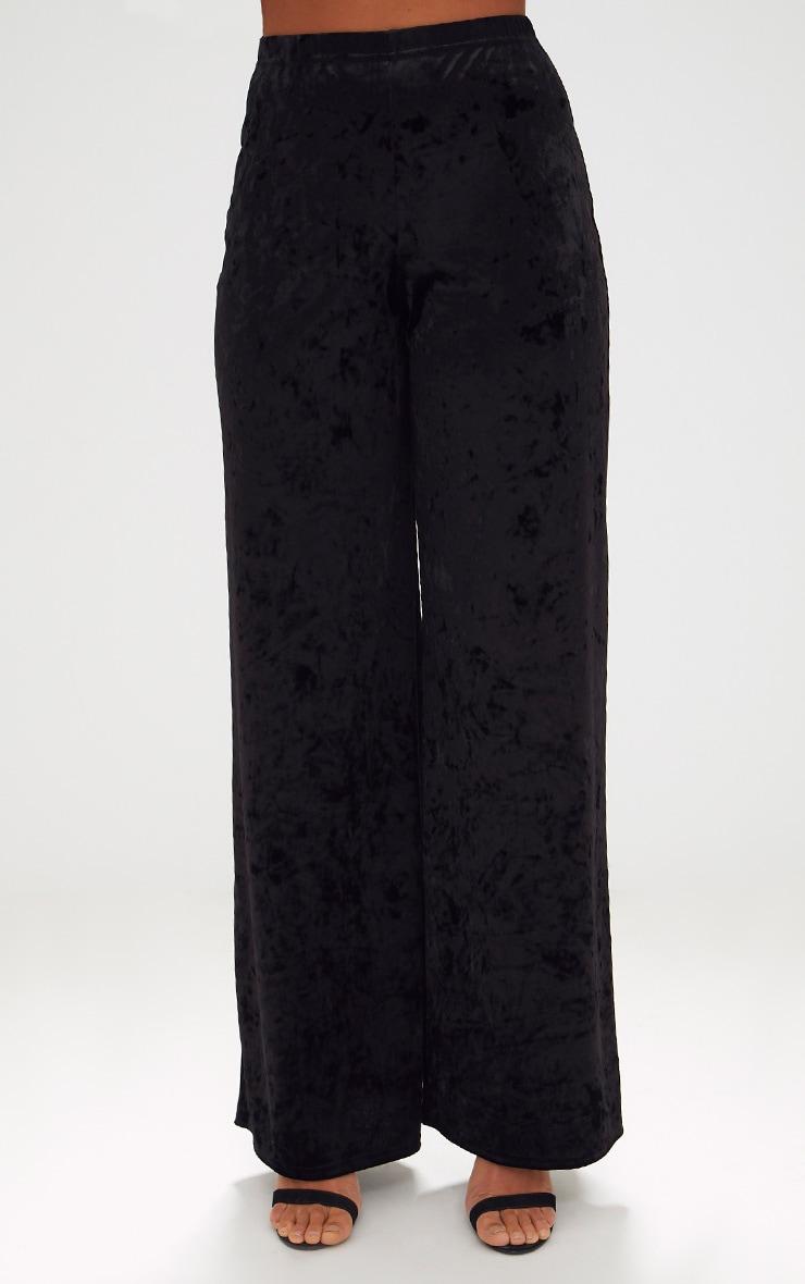 Black Crushed Velvet Suit Trouser 2