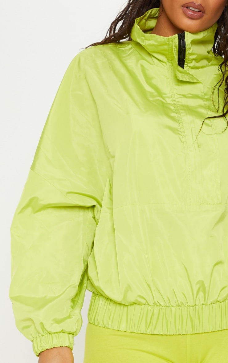 Neon Lime Oversized Windbreaker  5