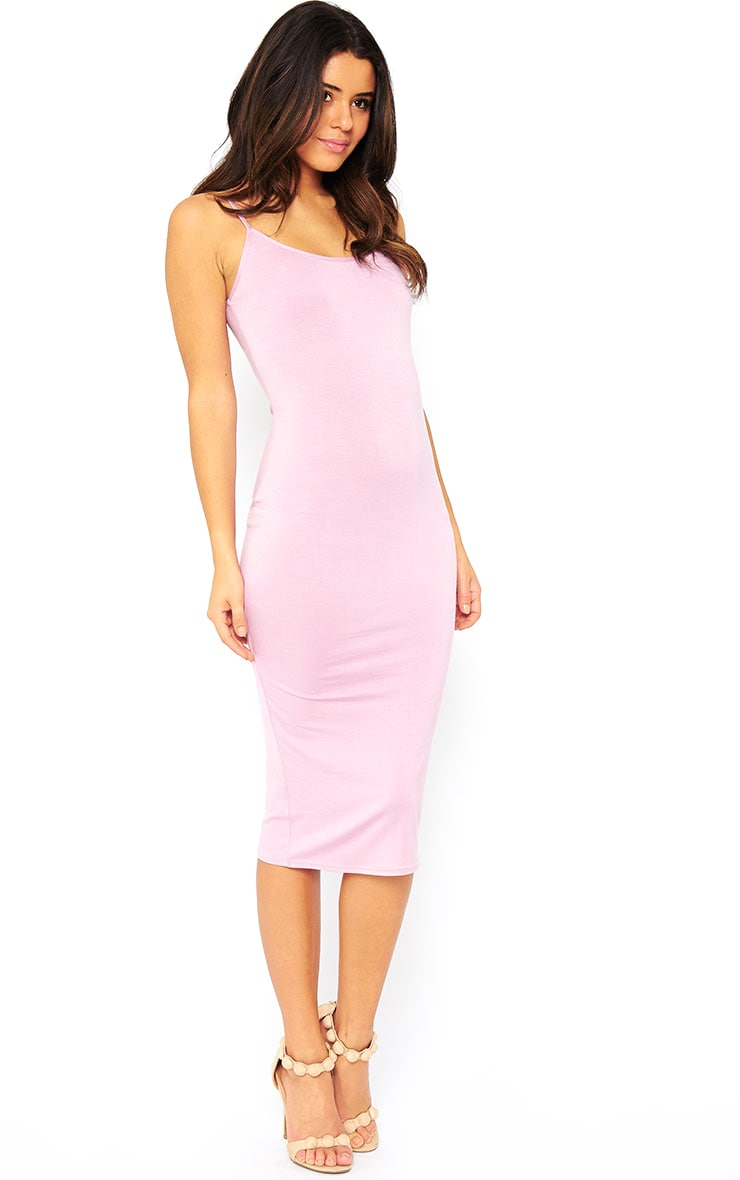 Basic Mauve Midi Vest Dress 4
