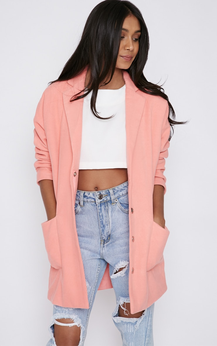 Hope Pink Boyfriend Coat -14 1
