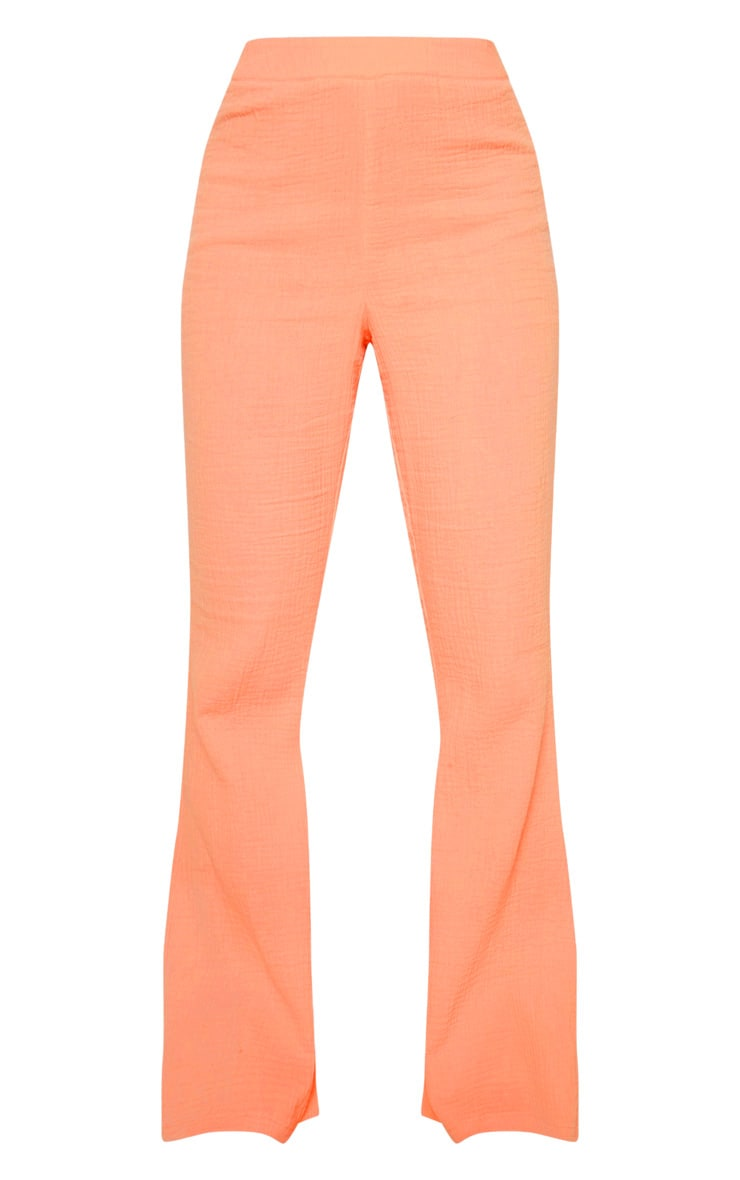 Coral Textured Flare Leg Trouser 3