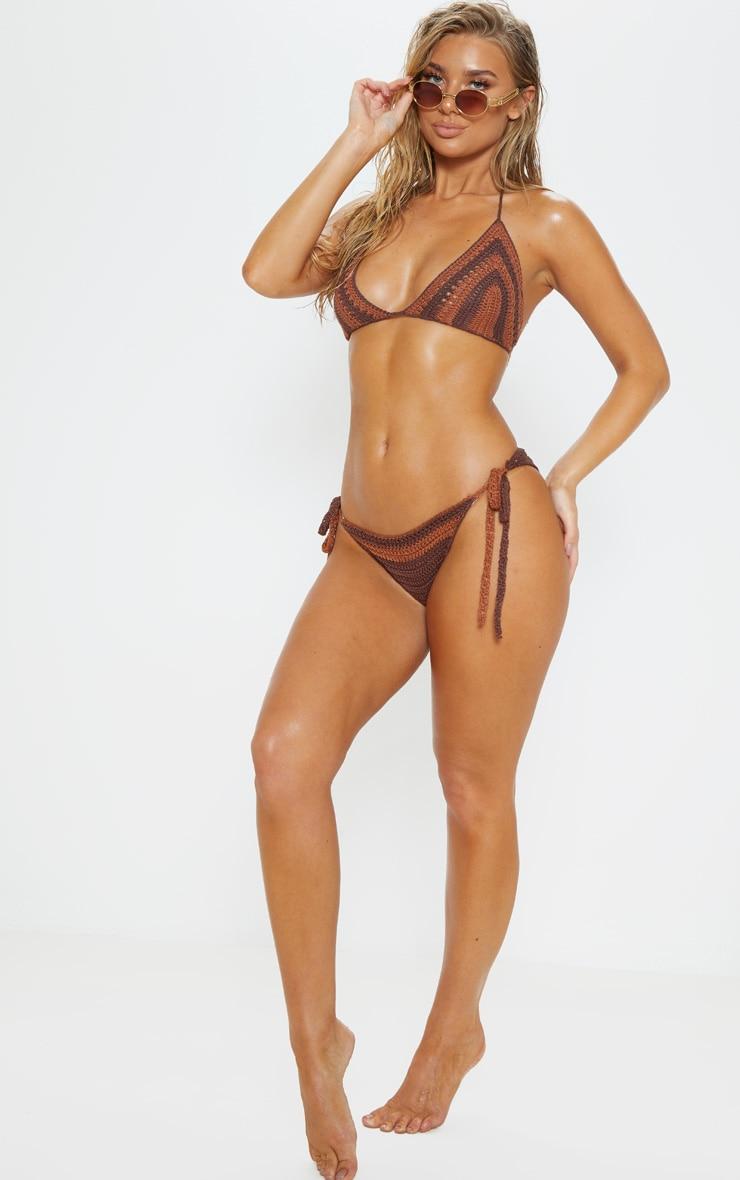 Chocolate Crochet Bikini Top 4