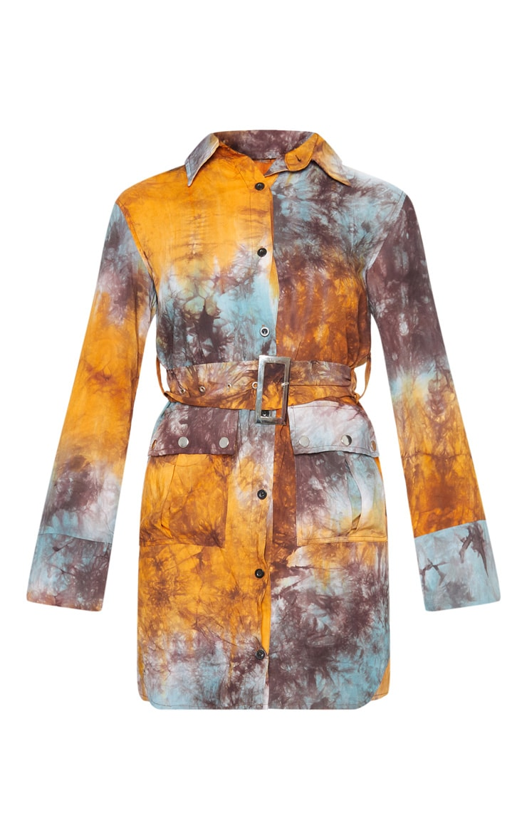 Multi Acid Wash Shirt Dress 3