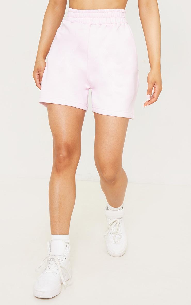 PRETTYLITTLETHING Pink Badge Bum Pocket Runner Shorts 2