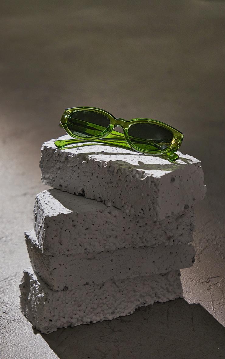 A.Kjaerbede Light Olive Transparant Sunglasses 2