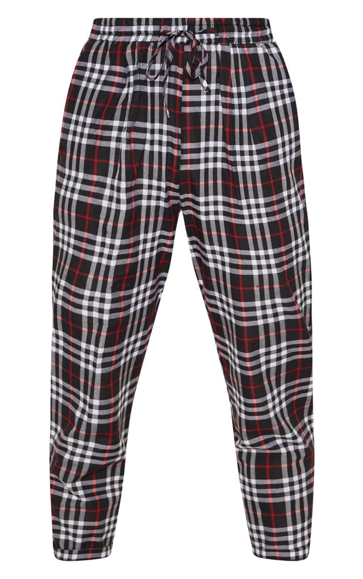 Black Checked Casual Pants 3