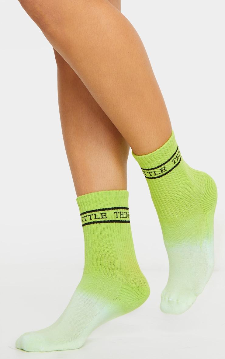PRETTYLITTLETHING Green Tie Dye Socks 1