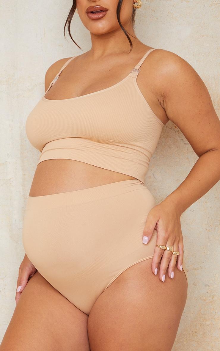 Maternity Camel Seamless Nursing Bra 4